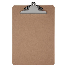 CLIPBOARD WOOD SILVER A4