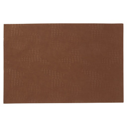 PLACEMAT LEATHER GARLIC BROWN 30X45CM