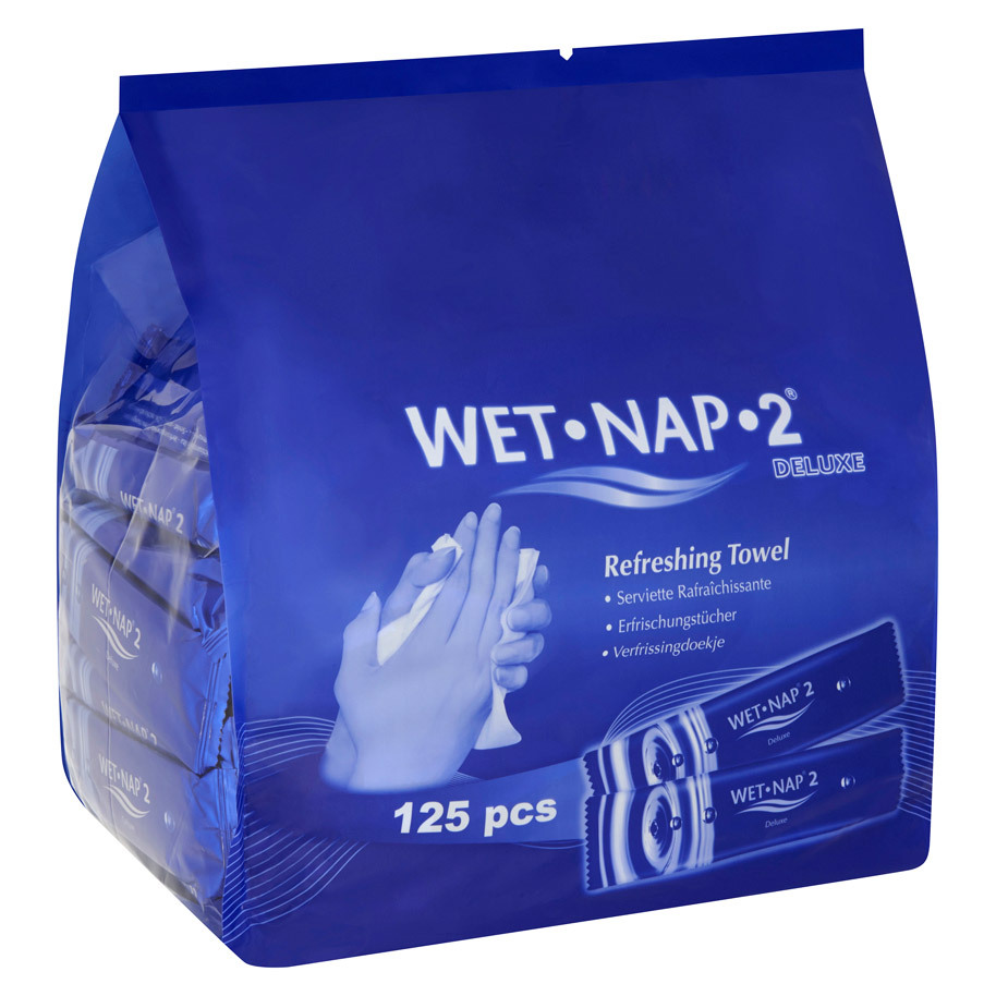 WET NAP 2 IND.WIPES PREPACKED