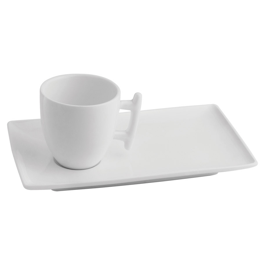 CUP+RECT.SAUCER 20X12 SQUITO