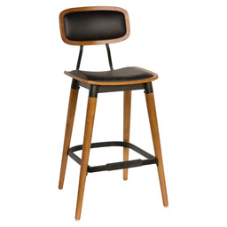 STUDO BARSTOOL - ART.LEATHER GREEN