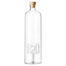 BOTTLE WITH CAP H2O H2