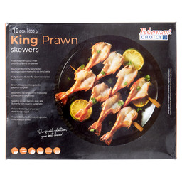 BLACK TIGER SPIES KING PRAWN SKEWER