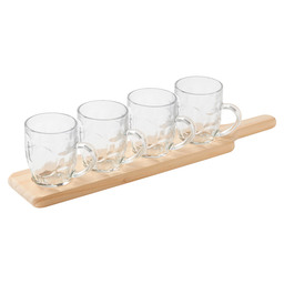 TASTING SET WOODEN TRAY - 4 PINTS 285ML