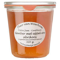 GEMBER APPEL ABRIKOOS CONFITURE WECKGLAS