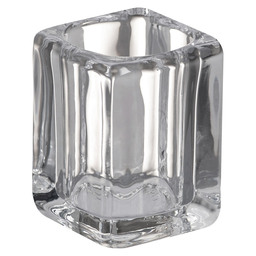 TEA LIGHT GLASS SQUARE 75/55 TRANSP.