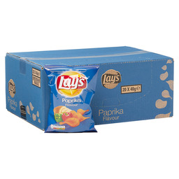 CHIPS PAPRIKA 40GR  LAY'S