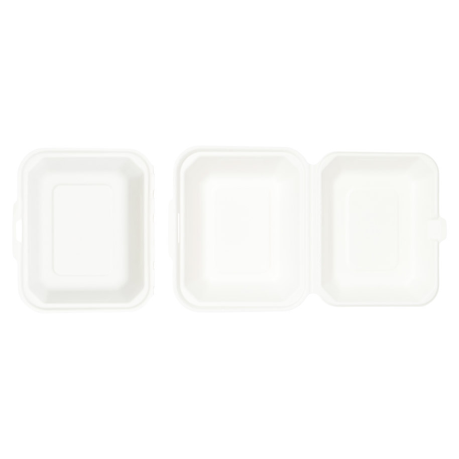 LUNCHBOX BAGASSE WIT IP9
