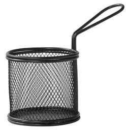 SMALL WIRE BASKET BLACK ROUND 9,3X8,8CM