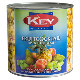 FRUITCOCKTAIL ITALIE L.SIROOP 1500GR NET