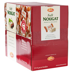 SOFTNOUGAT PEANUTS  AND FRUIT 12GR
