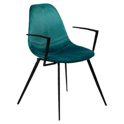 WILLOW ARMCHAIR - GREEN VELVET