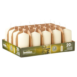 PILLAR CANDLES 10/5 TR20 IVORY