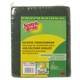 3M SB SPONGE GRN/YELL 98X158MM
