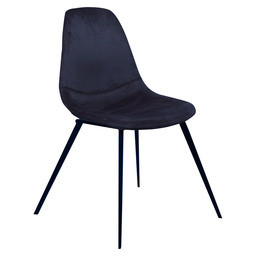 LOGAN CHAIR - BLUE VELVET