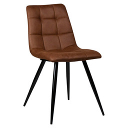 LAUREN CHAIR - COGNAC - MICROFIBRE