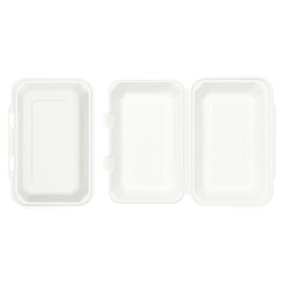LUNCHBOX BAGASSE WIT IP10