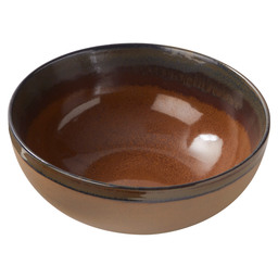 BOWL SURFACE 23,56X9,5CM RUST-BROWN