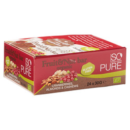 SOPURE BAR FRUIT NUT CRANBERRY BIO 30GR