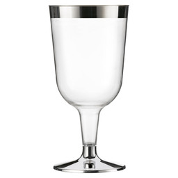 WINE GLASS METALIZED-DISPOSABLE