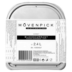 ICE CREAM BLACK CURRANT 2.4 L MOVENPICK