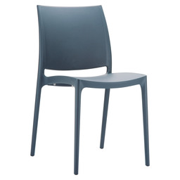 MAYA CHAIR PVC DARK GREY
