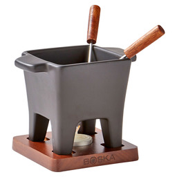 CHEESE FONDUE SET TAPAS BLACK 200ML