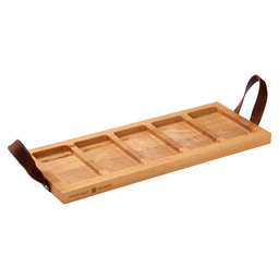 SERVING TRAY BEECH 5-VAKS HANDLE 49CM