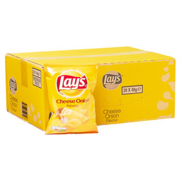 CHIPS CHEESE-ONION 40GR