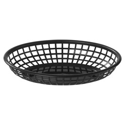 FAST FOOD BASKET BLACK 23,5X15,4CM