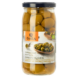 ORGANIC PITTED GREEN OLIVES IN BRINE