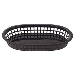 FAST FOOD BASKET BLACK 27,5X17,5CM