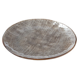 BORD INDY PLAT 22X22X2,3CM TAUPE