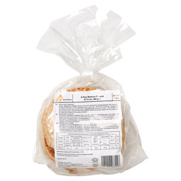PITA MEDIUM 6X80GR  14CM NINA BAKERY