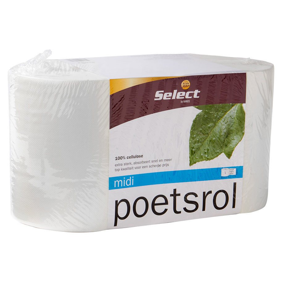 POETSROL MIDI 1LG WIT CELLUL. *SELECT*