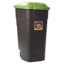 WASTE BIN PORTABLE 110L BLACK-GREEN
