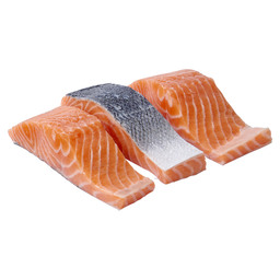 SALMON FILET PORTIONS SKIN ON 180 GRAM