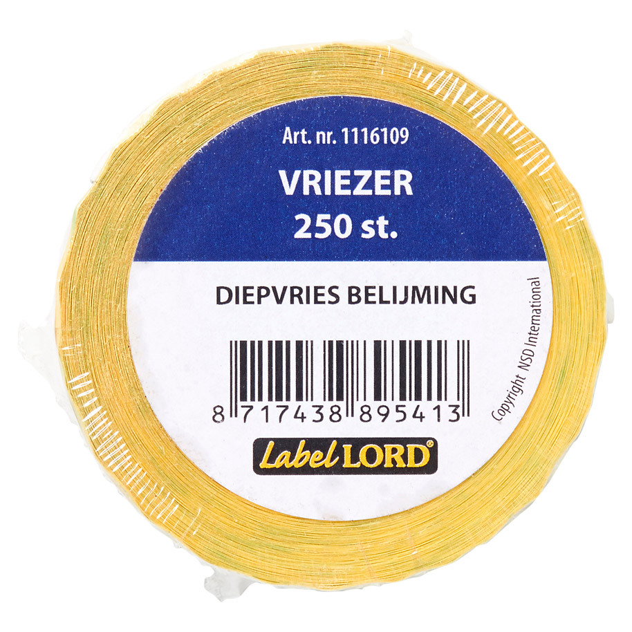 HACCP STICKERS  DIEPVRIES LABEL LORD