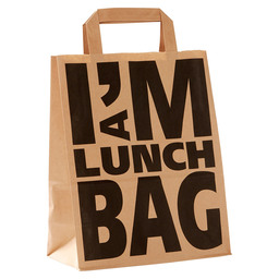 LUNCH BAG 22/10X28 I AM A LUNCHBAG