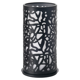 CANDLE HOLDER METAL 140X75MM TWIST BLACK