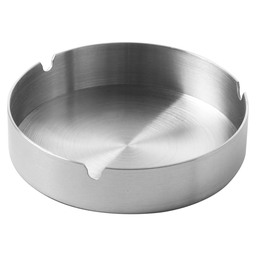 ASHTRAY SS STACKABLE 120X28MM