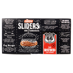 MINI HAMBURGERS RUND SLIDERS 66GR