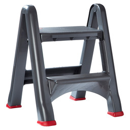 STEP STOOL FOLDABLE ANTHRACITE-RED