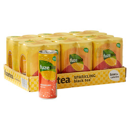 FUZE TEA SPARKLING BLACK TEA LEMON 0,25L