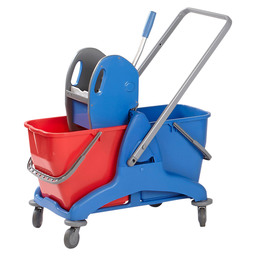 Mop trolley plastic 2 x 25 liter +press