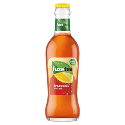 FUZE TEA SPARKLING BLACK TEA LEMON GLAS