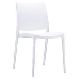 MAYA CHAIR PVC WHITE