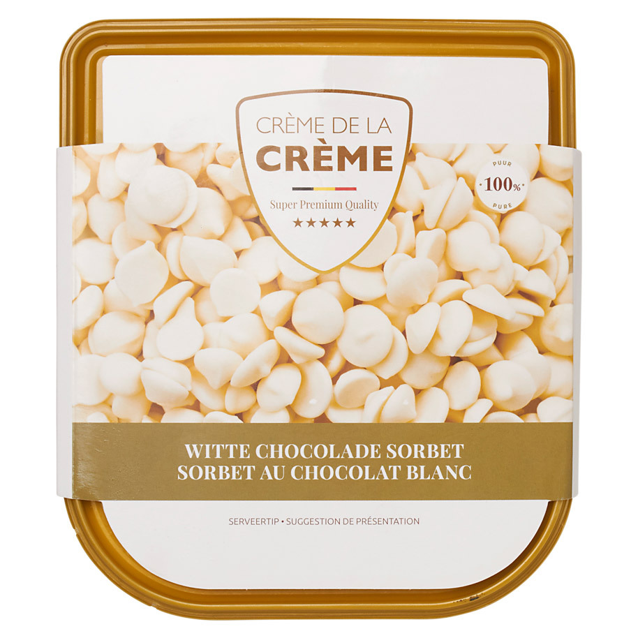 SORBET WITTE CHOCOLADE