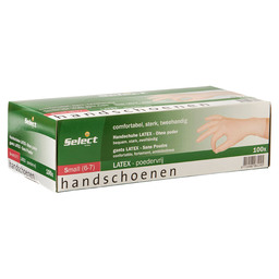 HANDSCHOEN LATEX PV WIT S SELECT