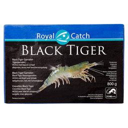 BLACK TIGER HOSO SHRIMP WITH HEAD 31/40